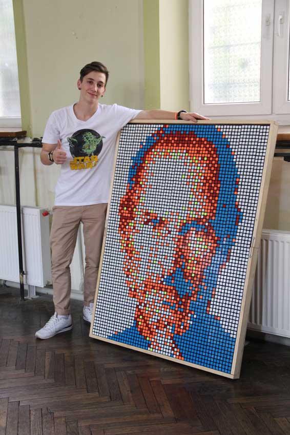 Ковельчанин Олександр Луцюк створив унікальну картину – портрет Стіва Джобса
